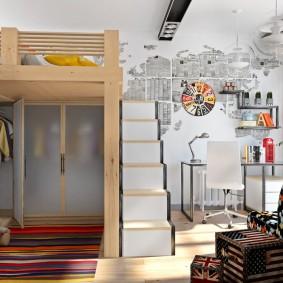 детская комната в стиле лофт фото декор
