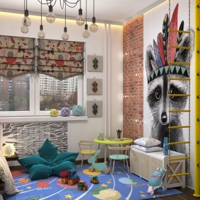детская комната в стиле лофт интерьер