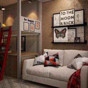 детская комната в стиле лофт фото интерьер