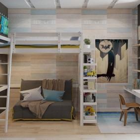 детская комната в стиле лофт оформление