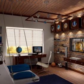 детская комната в стиле лофт варианты фото