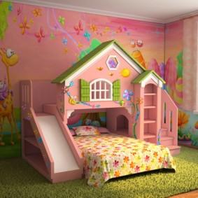 детская кровать домик фото