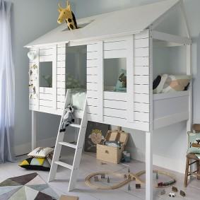 детская кровать домик идеи дизайн