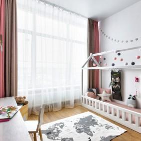 детская кровать домик декор фото