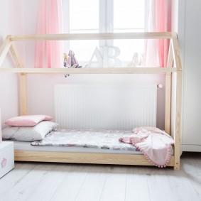 детская кровать домик фото декор