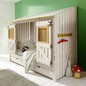 детская кровать домик фото декора