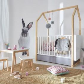 детская кровать домик декор идеи
