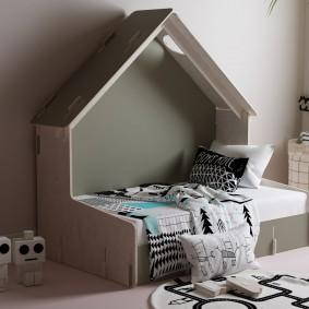 детская кровать домик идеи декор