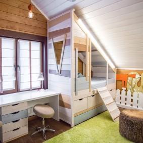 детская кровать домик идеи декора