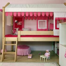 детская кровать домик идеи