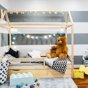 детская кровать домик интерьер фото