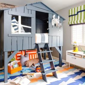 детская кровать домик фото интерьер