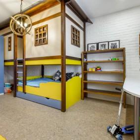 детская кровать домик фото интерьера