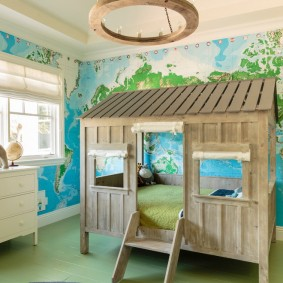 детская кровать домик интерьер идеи