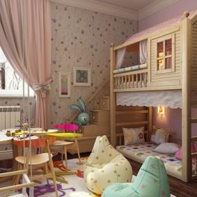 детская кровать домик идеи интерьер