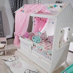 детская кровать домик идеи интерьера