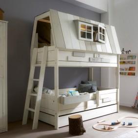 детская кровать домик оформление фото