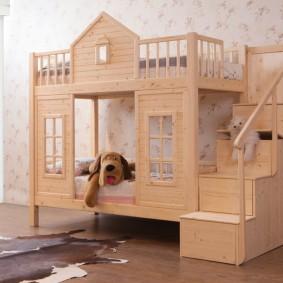 детская кровать домик оформление идеи