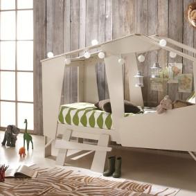 детская кровать домик идеи оформление