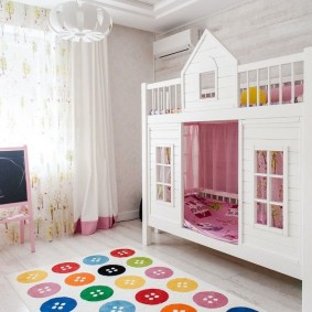 детская кровать домик идеи оформления