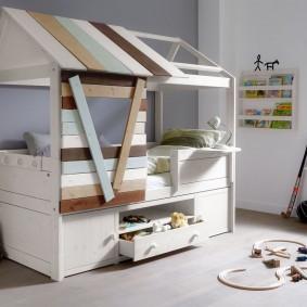детская кровать домик варианты фото