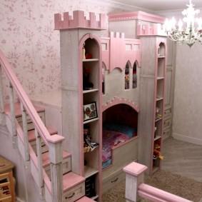 детская кровать домик виды