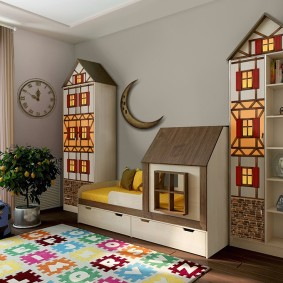 детская кровать домик виды фото