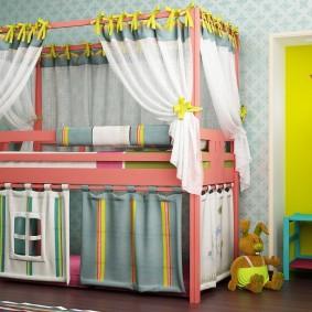 детская кровать домик фото виды