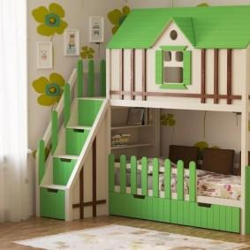 детская кровать домик виды идеи