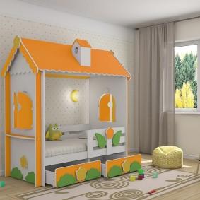 детская кровать домик идеи виды