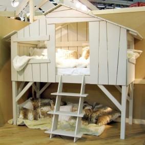 детская кровать домик дизайн фото