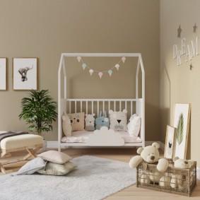 детская кровать домик дизайн идеи