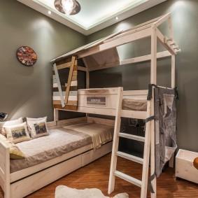 детская кровать из массива дерева дизайн идеи