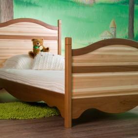 детская кровать из массива дерева идеи дизайна