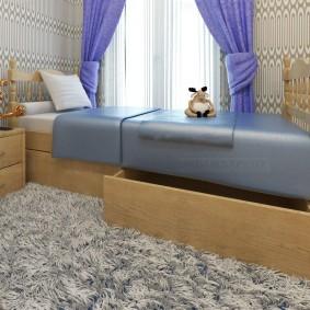 детская кровать из массива дерева декор идеи