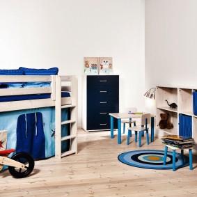 детская кровать из массива дерева идеи декора