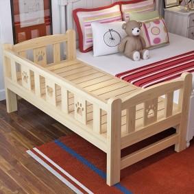 детская кровать из массива дерева фото интерьер