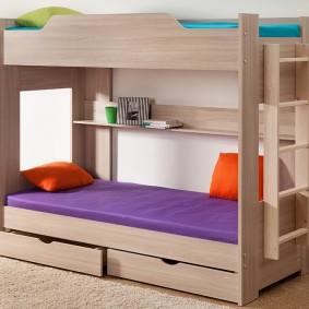 детская кровать из массива дерева оформление идеи