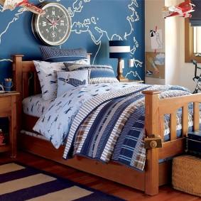 детская кровать из массива дерева идеи оформление