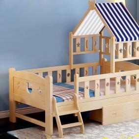 детская кровать из массива дерева варианты фото