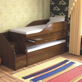 детская кровать из массива дерева идеи фото