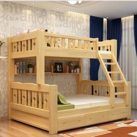 детская кровать из массива дерева виды фото