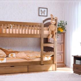 детская кровать из массива дерева фото видов