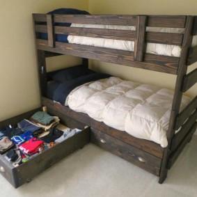 детская кровать из массива дерева виды дизайна