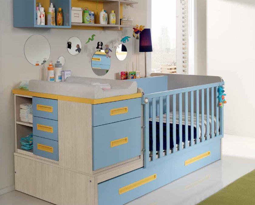 детская кровать с пеленальным столиком фото
