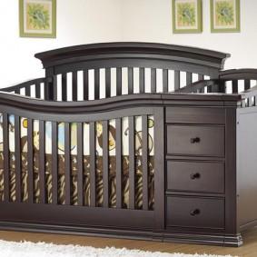 детская кровать с пеленальным столиком идеи фото