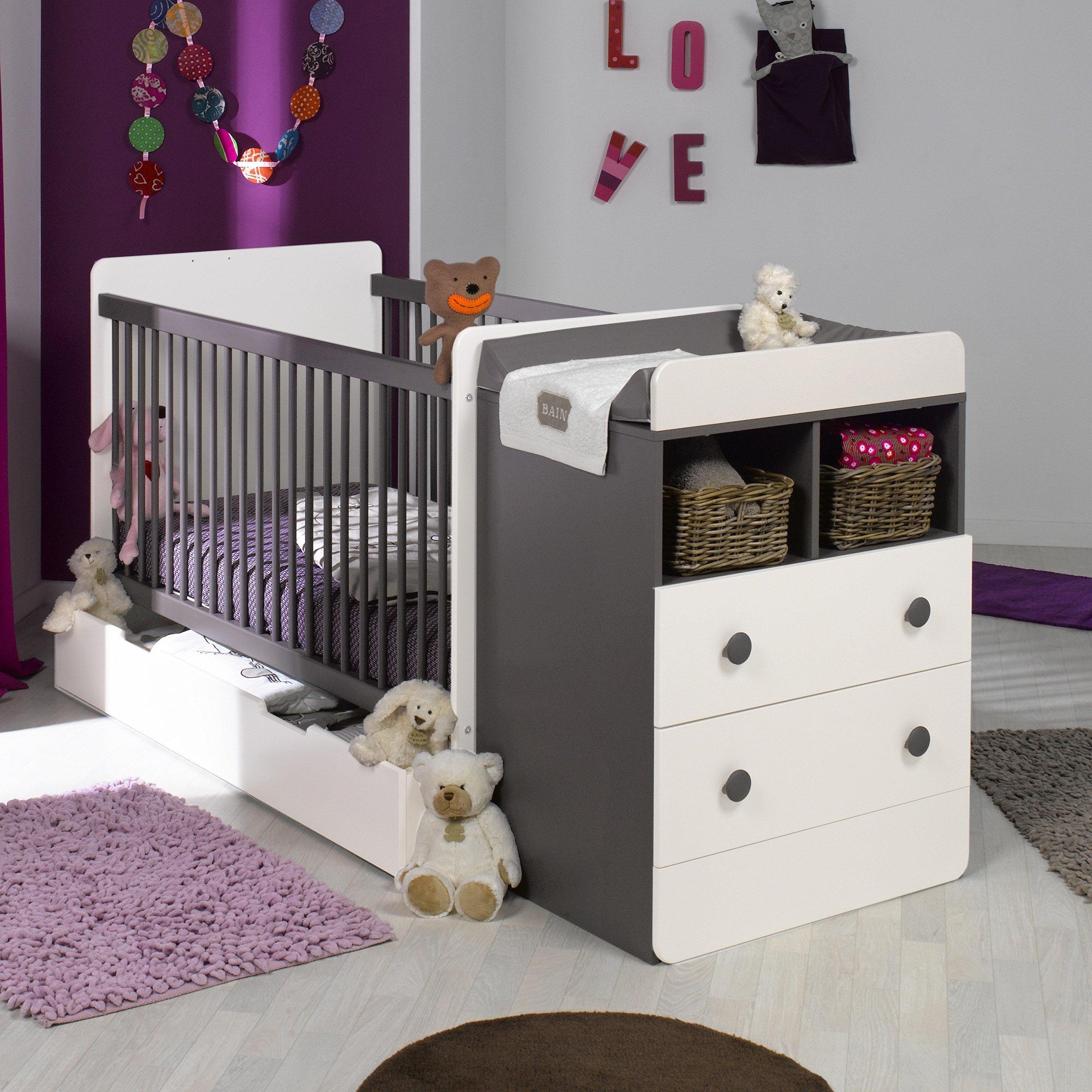 детская кровать с пеленальным столиком варианты
