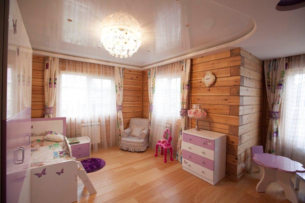 детская в деревянном доме дизайн идеи