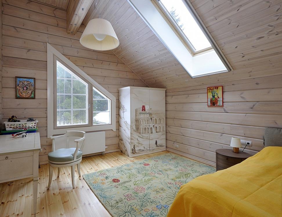 детская в деревянном доме фото дизайна