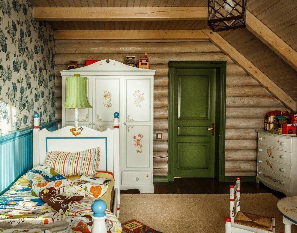 детская в деревянном доме фото